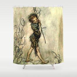"""Puck"" by Arthur Rackham From Shakespeare Shower Curtain"