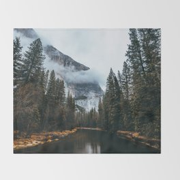 A River Runs Through It Throw Blanket