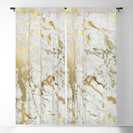 Gold marble Blackout Curtain