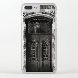 Thru The Doors Of Time Clear iPhone Case