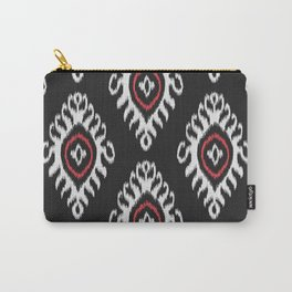 IKAT pattern 01, black Carry-All Pouch