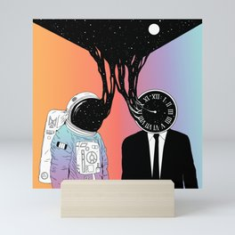 A Portrait of Space and Time ( A Study of Existence) Mini Art Print