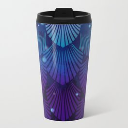 Variations on a Feather III - Raven Wing Deconstructed Metal Travel Mug