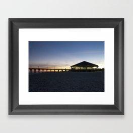 Sunset at the Tybee Island Pavillion Framed Art Print