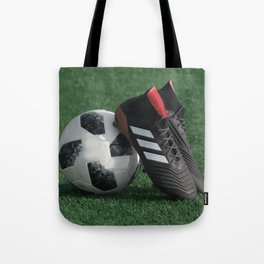 Football with soccer shoes #sports #society6 Tote Bag