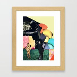 just some lazy afternoon collage play Framed Art Print