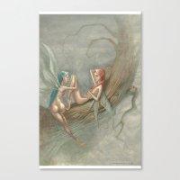 fairies Canvas Prints featuring fairies by george houridis