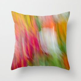 Colorful Strokes Throw Pillow