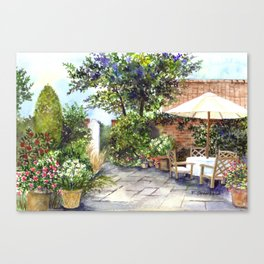 Terrace of The Manor House Canvas Print