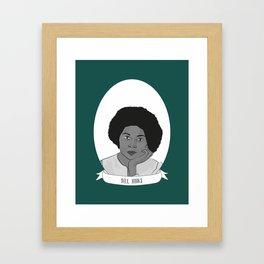 bell hooks Illustrated Portrait Framed Art Print