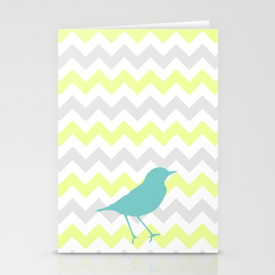 Chevron & On & On Stationery Cards