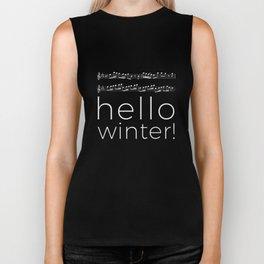 Hello winter! (black) Biker Tank