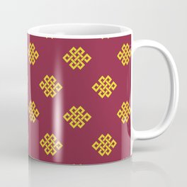 Eternity knot, endless knot pattern Coffee Mug