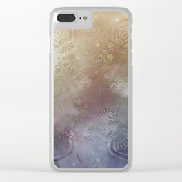 Universe Mandala Glow Clear iPhone Case