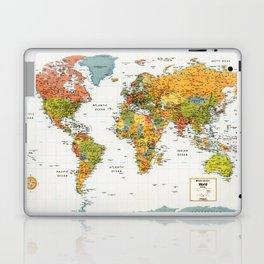 Mapa do Mundo Laptop & iPad Skin