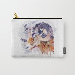 Bighorn Sheep watercolor portrait Carry-All Pouch