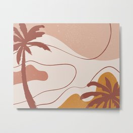 Palm Trees Abstract Metal Print