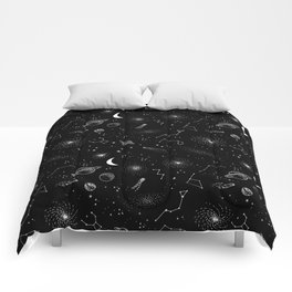 galactic pattern Comforters