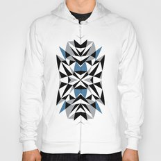 Abstract Kite Black and Blue Hoody