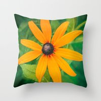the shining Throw Pillows featuring Shining by DejaReve