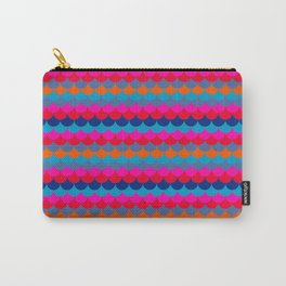 """Go Bold or Go Home"" vibrant Mermaid scallop stripe Carry-All Pouch"