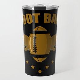 Football two helmet Travel Mug