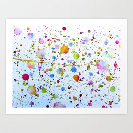 Cyclical Splatter Art Print