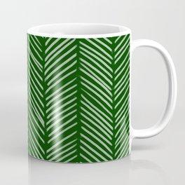 Forest Green Herringbone Coffee Mug