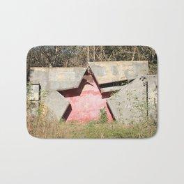 Red Russian Star Bath Mat