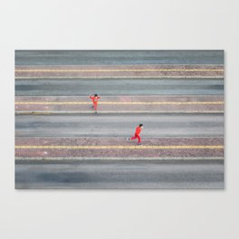 Brothers Chasing Canvas Print