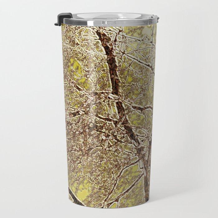 Winter Beech Abstract Travel Mug