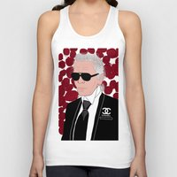 karl lagerfeld Tank Tops featuring Karl Lagerfeld by Stephanie Jett