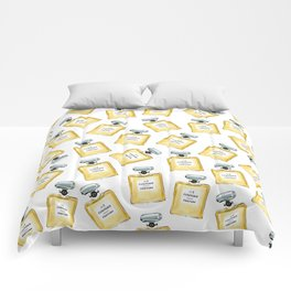 Yellow Parfum Comforters