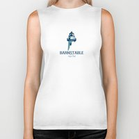 cape cod Biker Tanks featuring Barnstable - Cape Cod. by America Roadside