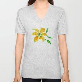 Yellow Lily Unisex V-Neck