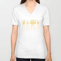 compass V-neck T-shirts featuring Compass by Carl Christensen