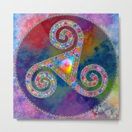 Trisquel with Watercolor Background Metal Print