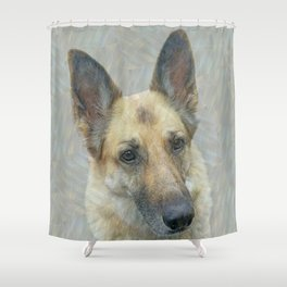 Unconditional Love Holly German Shepard Shower Curtain