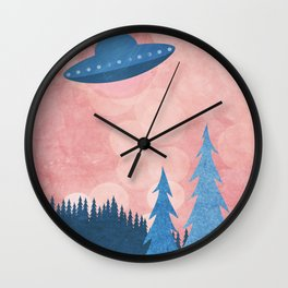 Unidentified Flying Object Wall Clock
