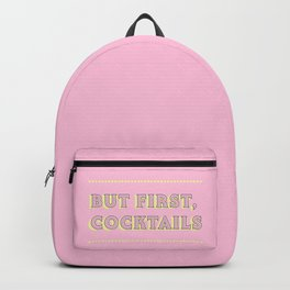 Pastel Pink Party Cocktails Backpack