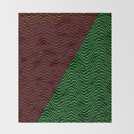 e79d75f9 Trippy Triangle Color-Split (Red/Green) Throw Blanket