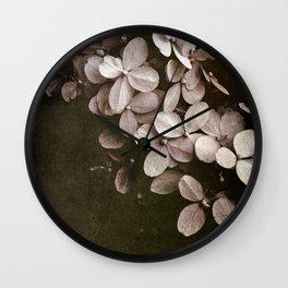 hydrangea too Wall Clock