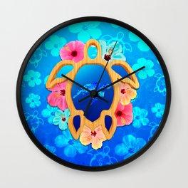 Hawaiian Swimming Turtle Wall Clock