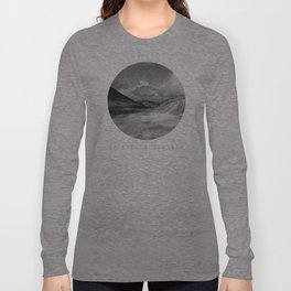 Life Is A Journey (Black & White) Long Sleeve T-shirt
