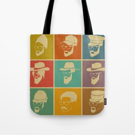 colorful Icons man in a headdress hat Tote Bag