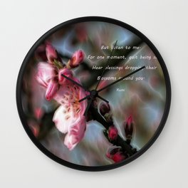 Poem from Rumi 2 Wall Clock