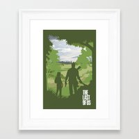 the last of us Framed Art Prints featuring The Last Of Us by Pixel Design