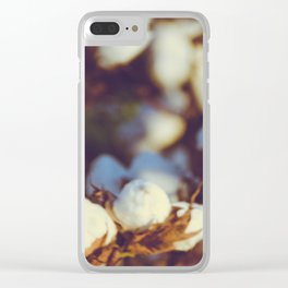 Cotton Field 18 Clear iPhone Case