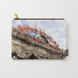 Union Station Denver CO watercolor Carry-All Pouch
