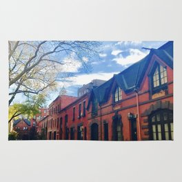 STOP For Brooklyn Heights Brownstone Red Brick Love Rug